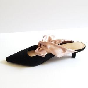 Shoes - Black Suede Sandals